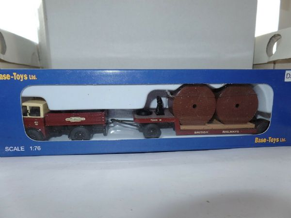 B T Models DA-04 DA04 Foden DG Tractor Trailer British Rail Railways Drum Load